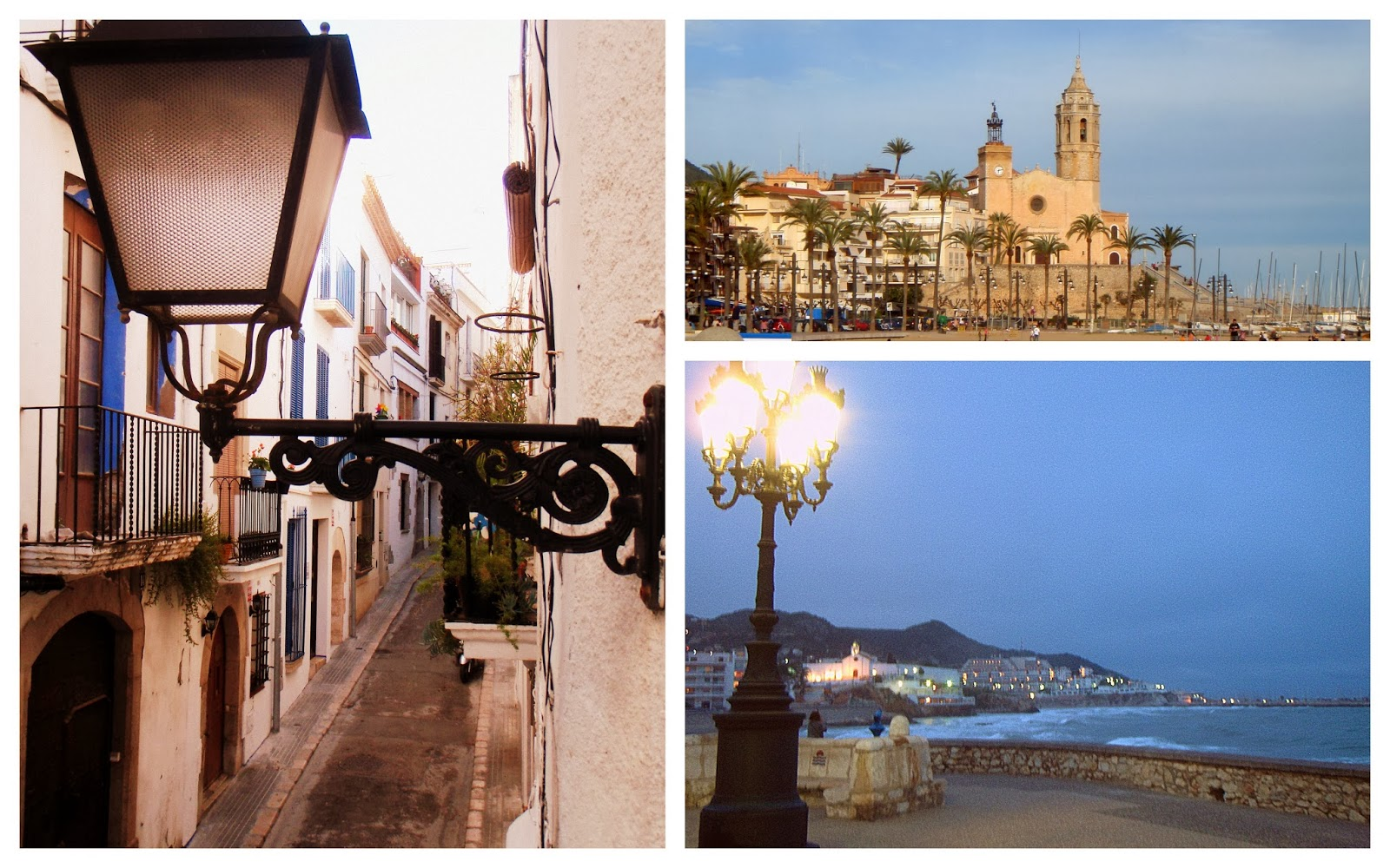 The picturesque Sitges when I visited the town in 2009 - so serene