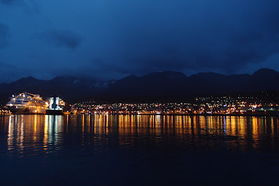 Ushuaia by dark - arriving back to town