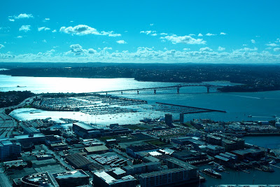 Great 360-degree views from the Sky Tower...