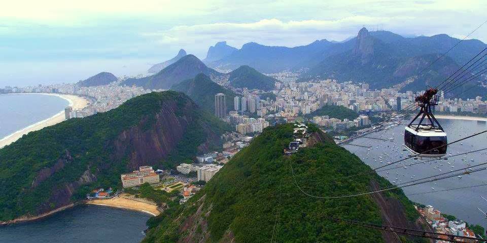 """The glorious """"City of God"""", Rio de Janeiro - view from the Sugar Loaf"""