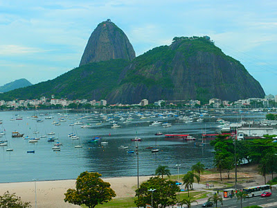 A view from Botafogo to the Sugar Loaf
