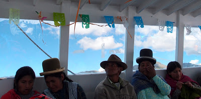 On the boat to Isla del Sol