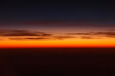 Sun setting over Peru
