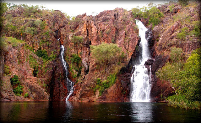 The massive Wangi Falls - once you swim all the way to the bottom of them you realise how big they really are!