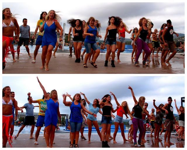 People dancing Axé in between the zouk songs!