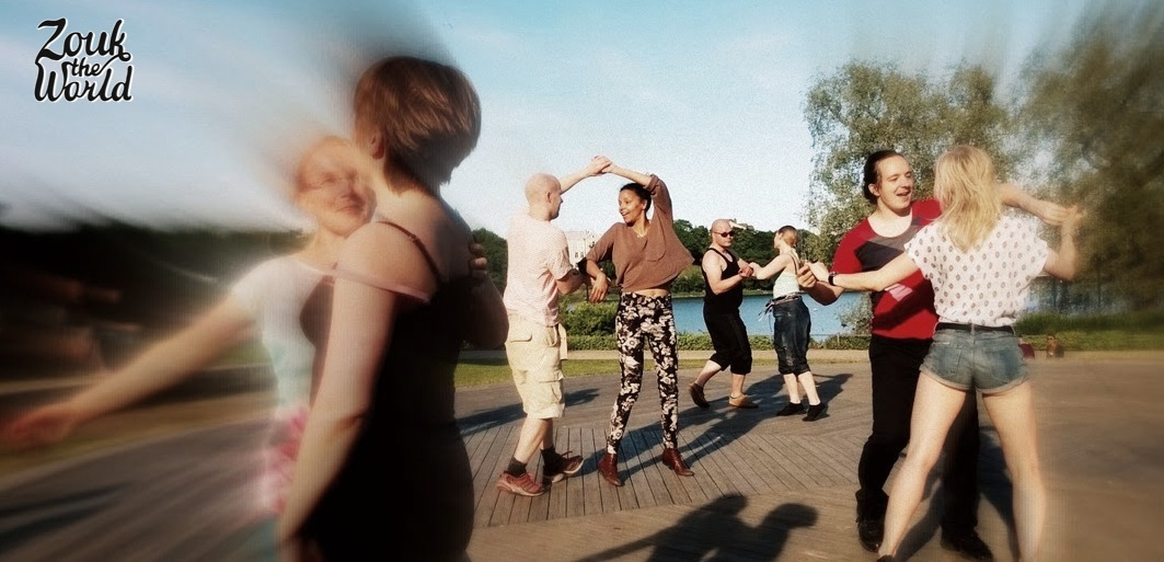 There's no stopping the flow! Zouk dancers in Helsinki enjoying the summer and zouk.