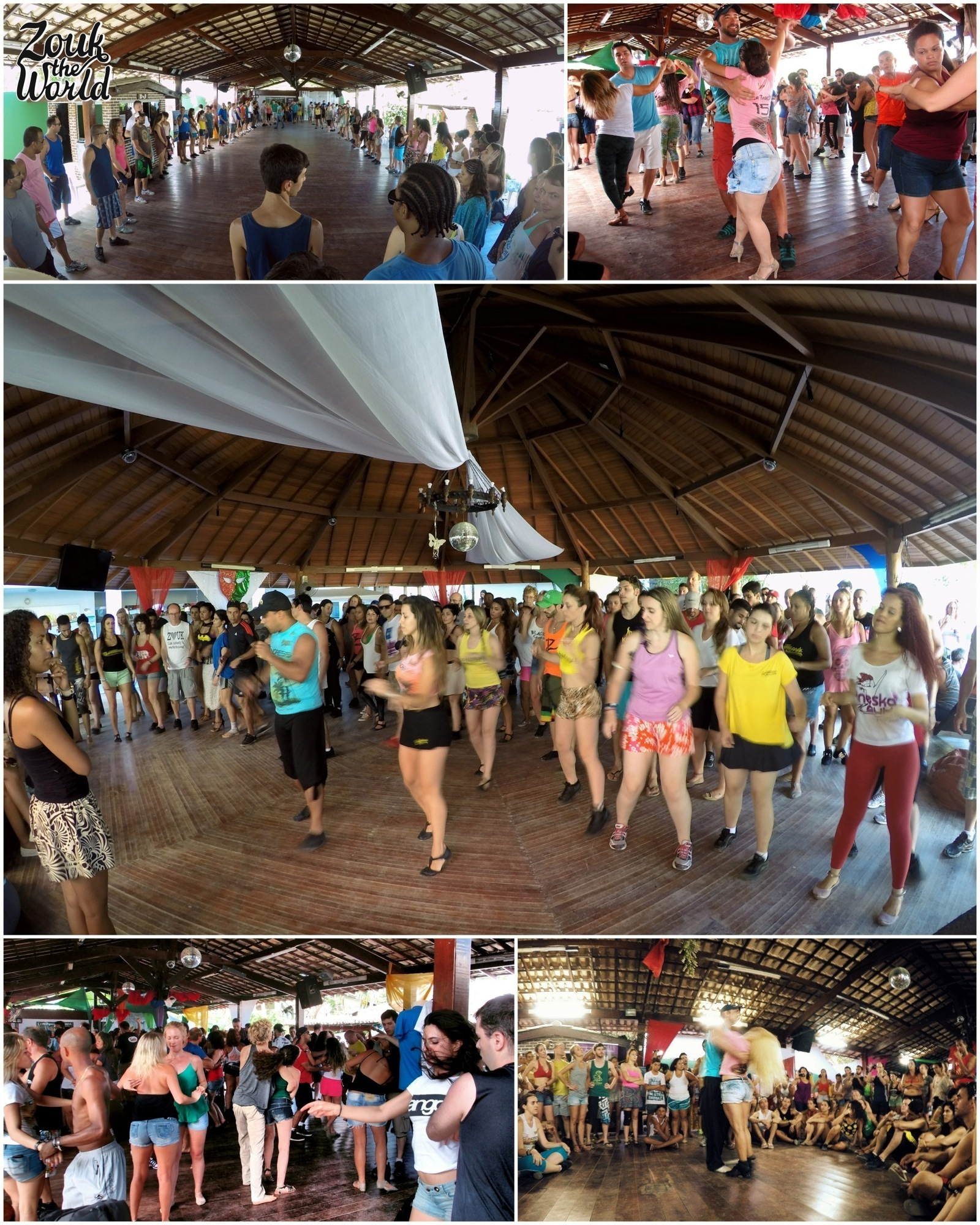 Workshops in the airy spaces - bring light clothes and enjoy the brazilian summer