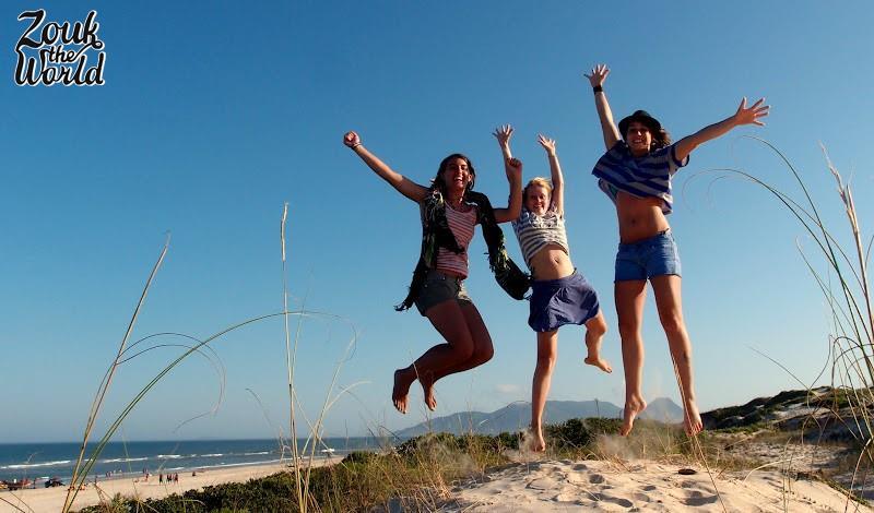 Enjoying the moment at Campeche beach in Floripa