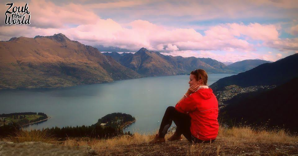 Enjoying some 'me time' at the scenic Queenstown