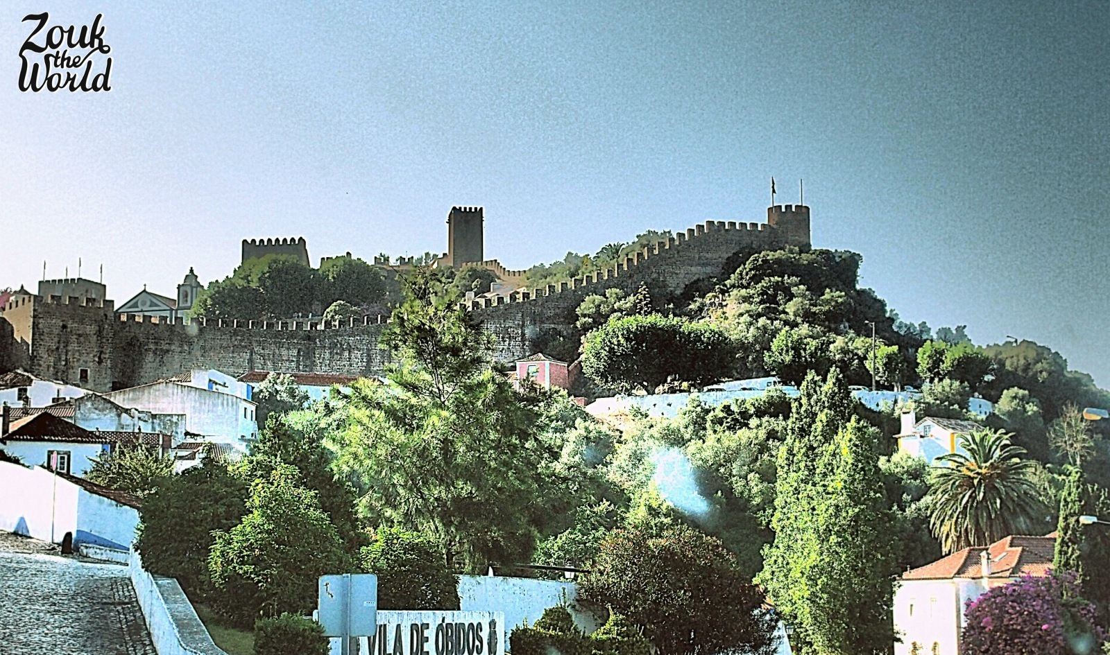 Óbidos seen from the road leading to the city