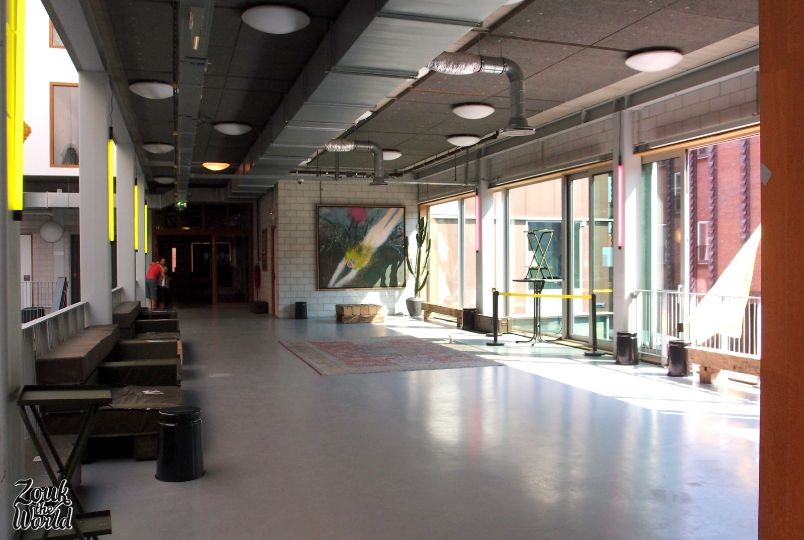 First floor lobby, and the space of the Friday's party