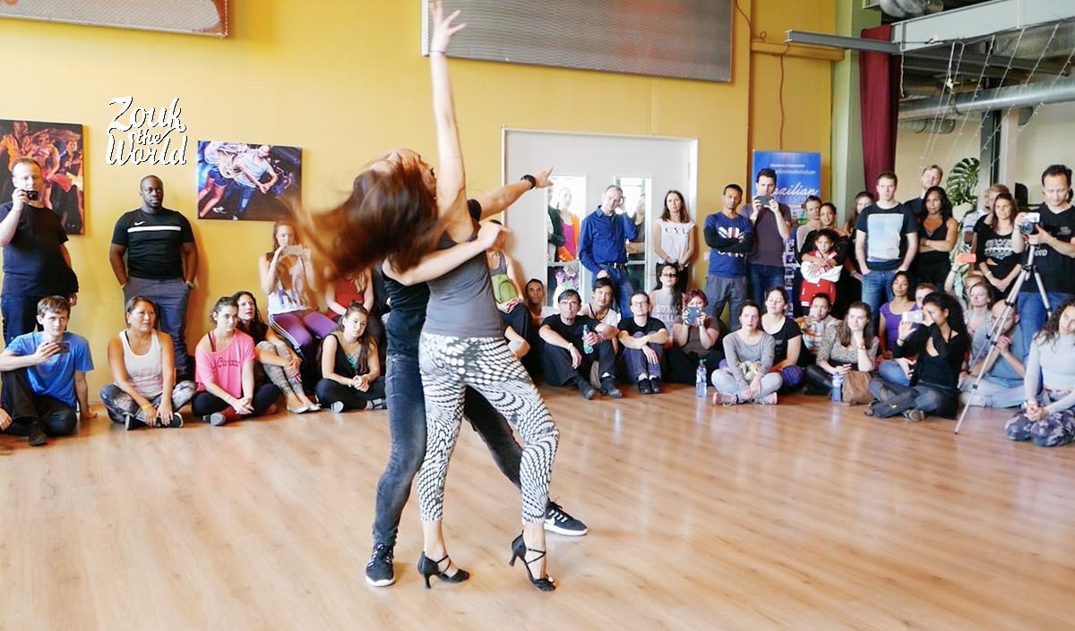 Olaya & Papagaio dancing a demo at Brazilian Dance Festival in Amsterdam
