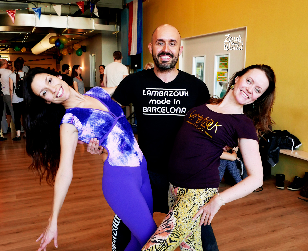 Olaya, Papagaio and Noora from Zouk The World at Brazilian Dance Festival in Amsterdam