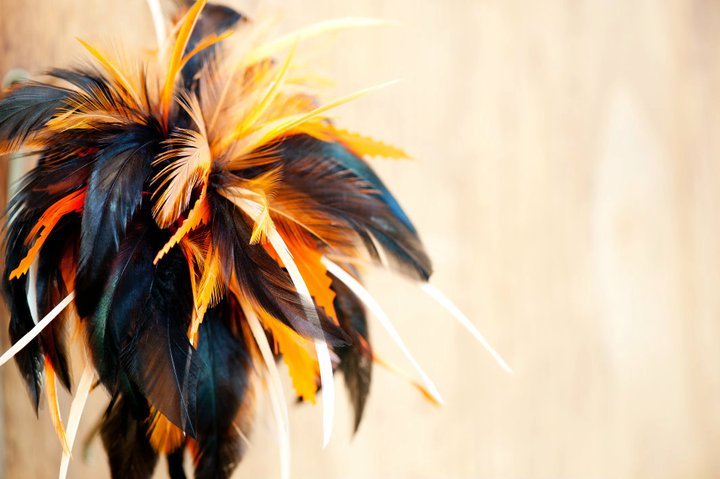 Feather headpiece, selection of colours
