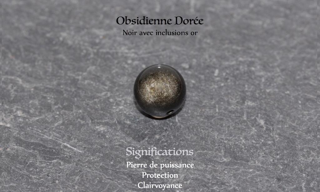 JAWERY - Obsidienne Dorée