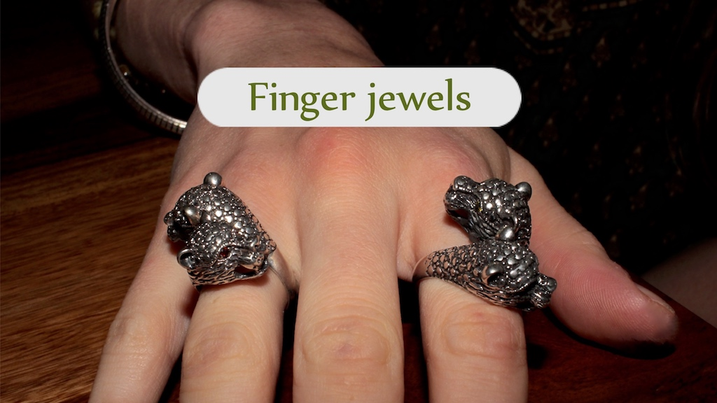 Finger jewels from the Atelier JAWERY