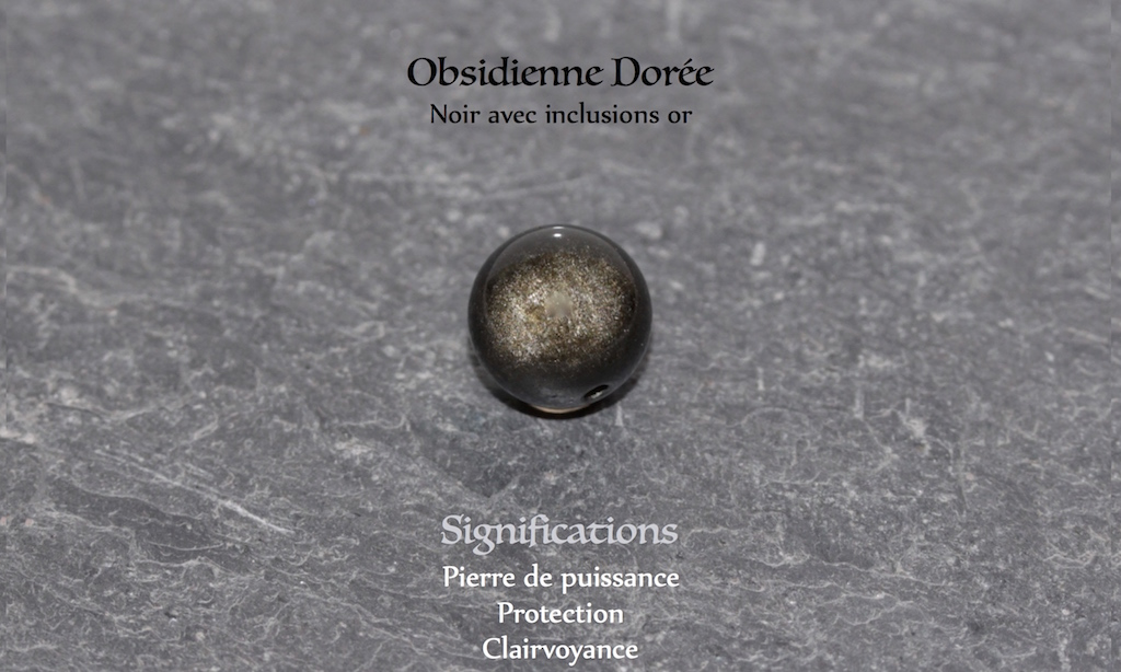 Healing powers of Obsidian from Atelier JAWERY