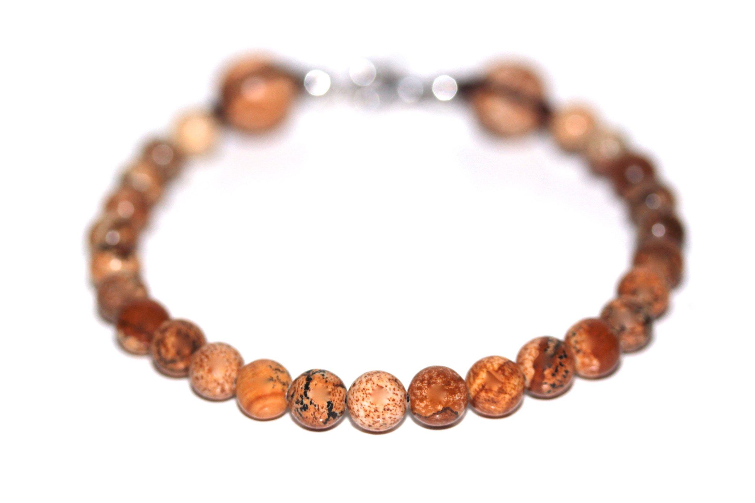 Bracelet Jaspe Brun 6mm