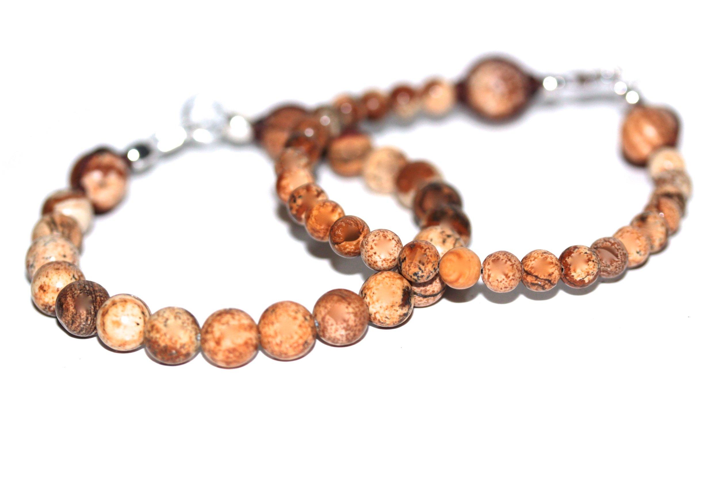 Bracelets en Jaspe Brun de l'atelier JAWERY