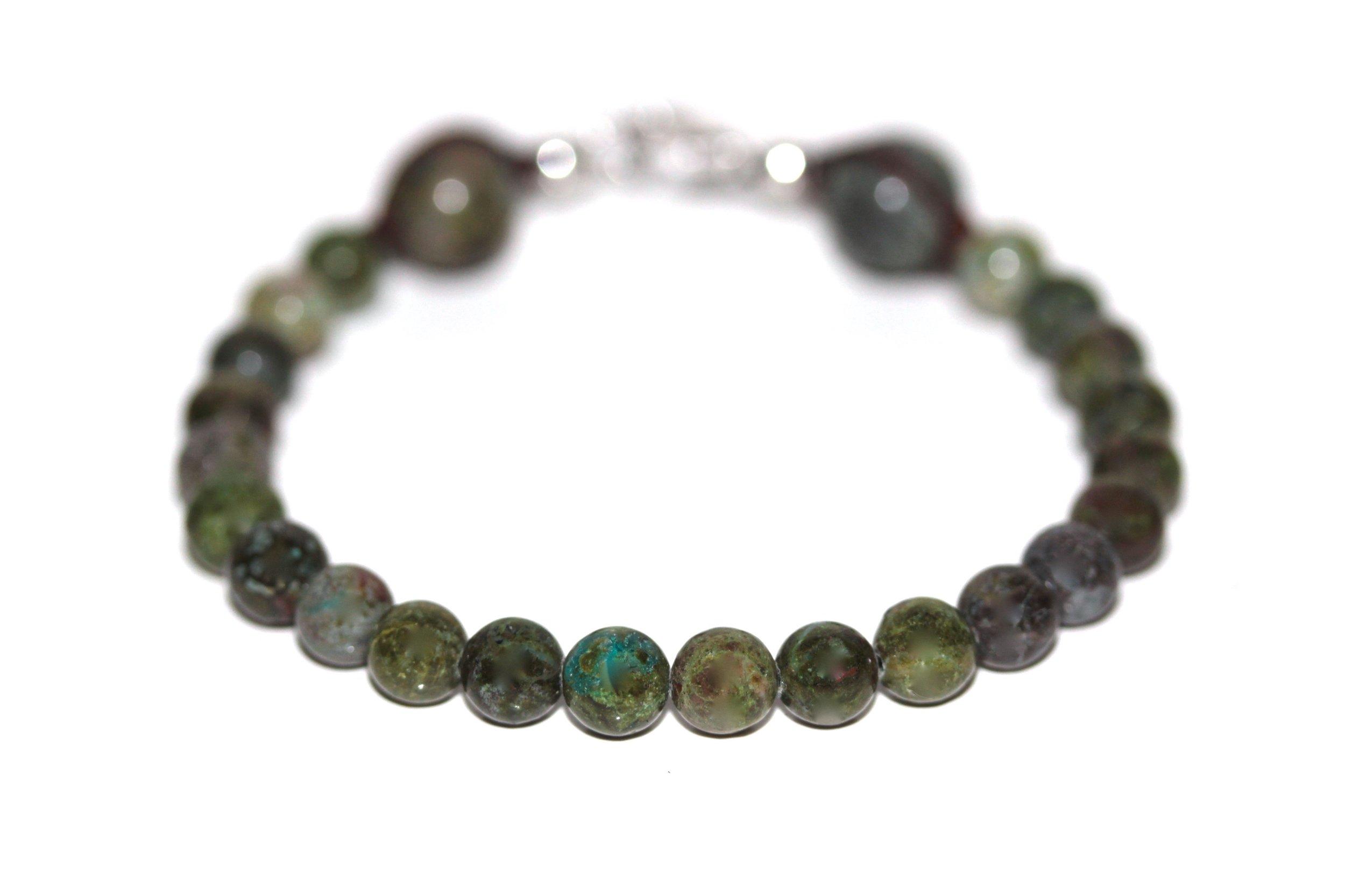 Bracelet Jaspe Vert 6mm