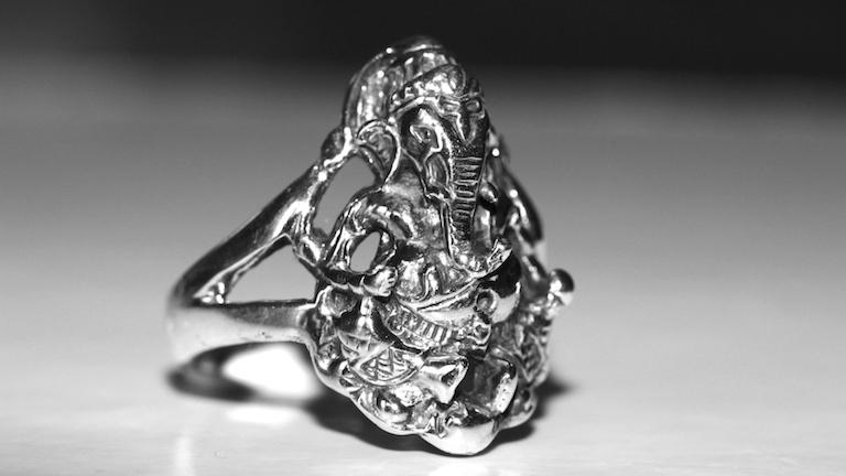 Bague elephant Ganesh - Argent 925 - Atelier JAWERY