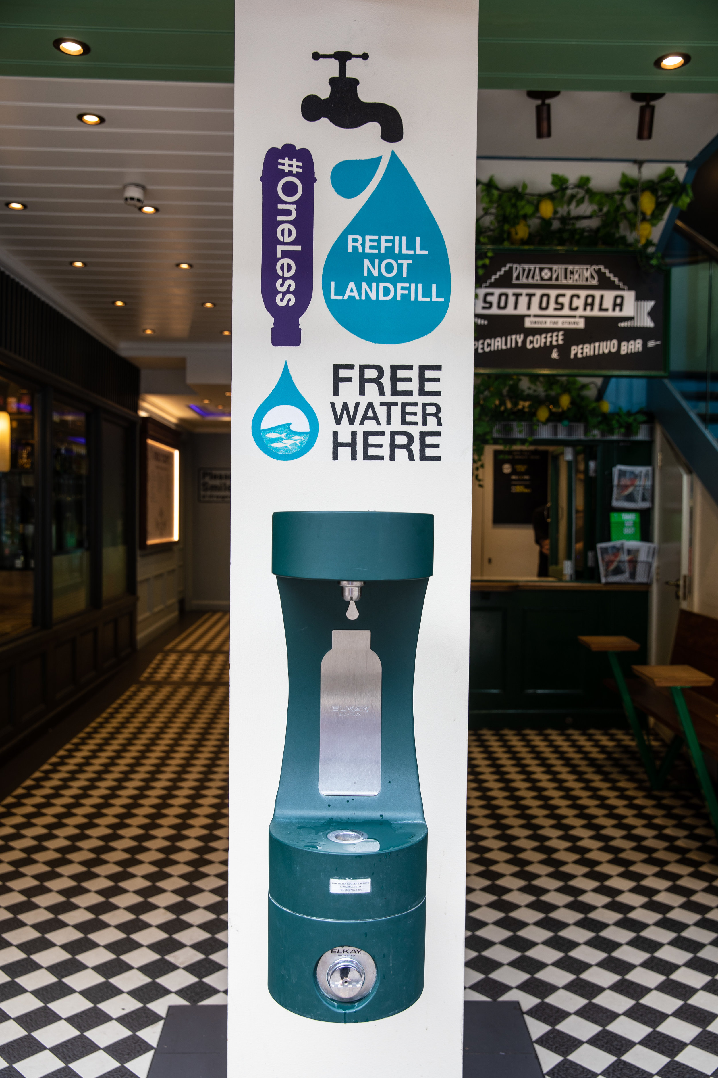 Shaftesbury is proud to announce that the free water refill station in Carnaby's Kingly Court has saved the use of over 45,000 plastic 500ml sized bottles since it was installed in March 2018.