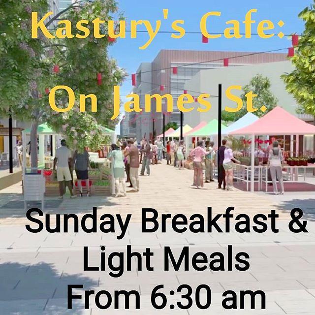 KASTURY'S On James St.  Now serving breakfast and light meals from 6:30 am. Every #Sunday running alongside the #BeenleighFreshFoodMarket  #Beenleigh #Logan #Queensland #SundayBrunch #Breakfast #Lunch