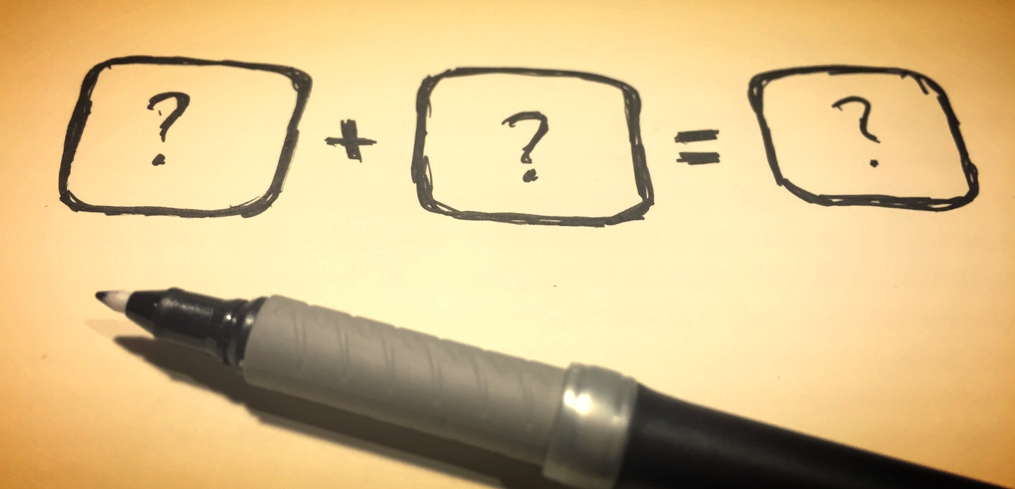 Innovations-ekvationen vi använder oss av när vi experimenterar. Lägg in din produkt i en av rutorna och fyll i resten