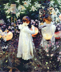 Sargent Painting Carnation Lily Rose Broadway Cotswolds