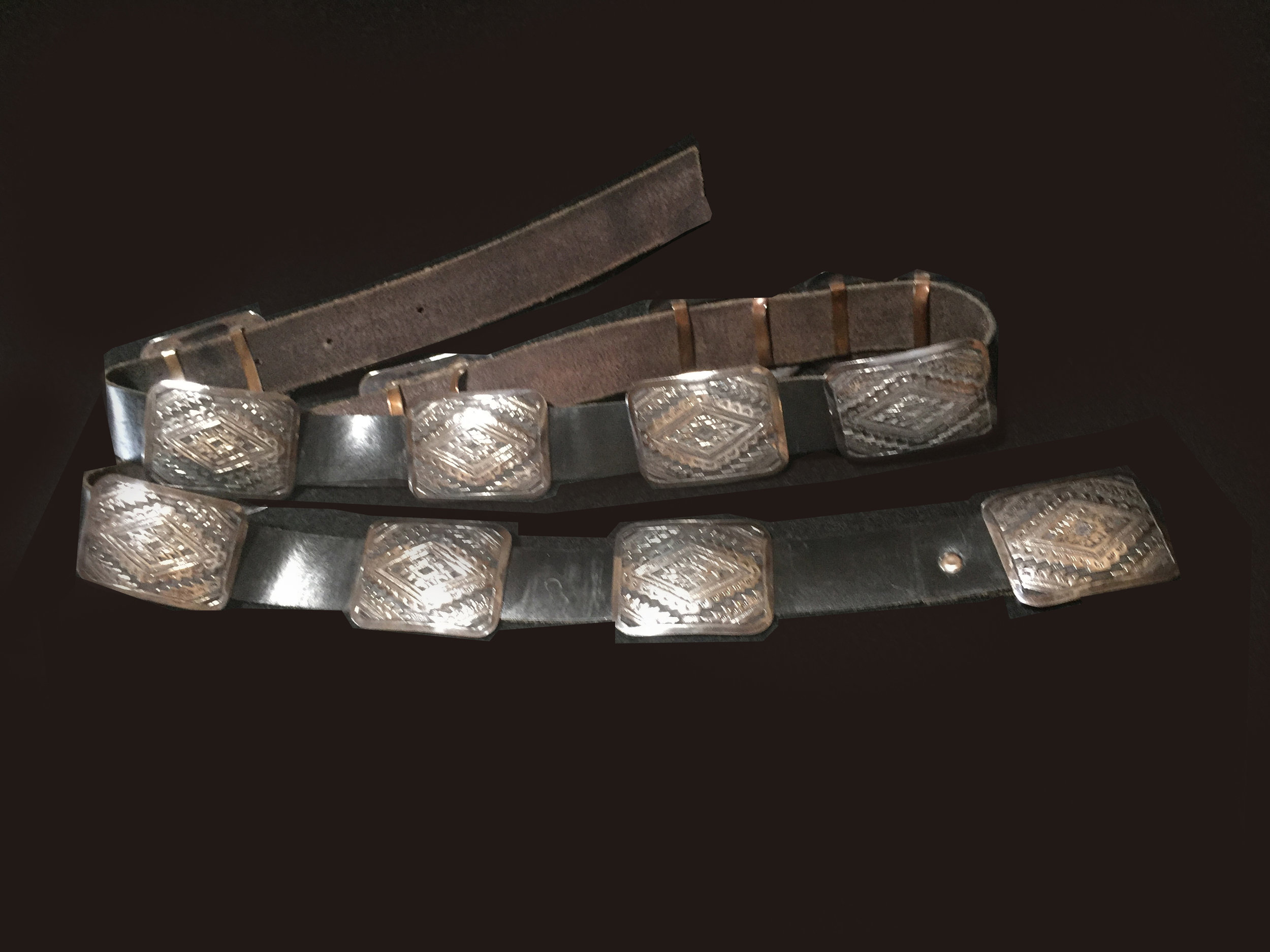 MZ83 Navajo Silver 13 Concho Belt Zuni Fetishes And Authentic Native American Jewelry