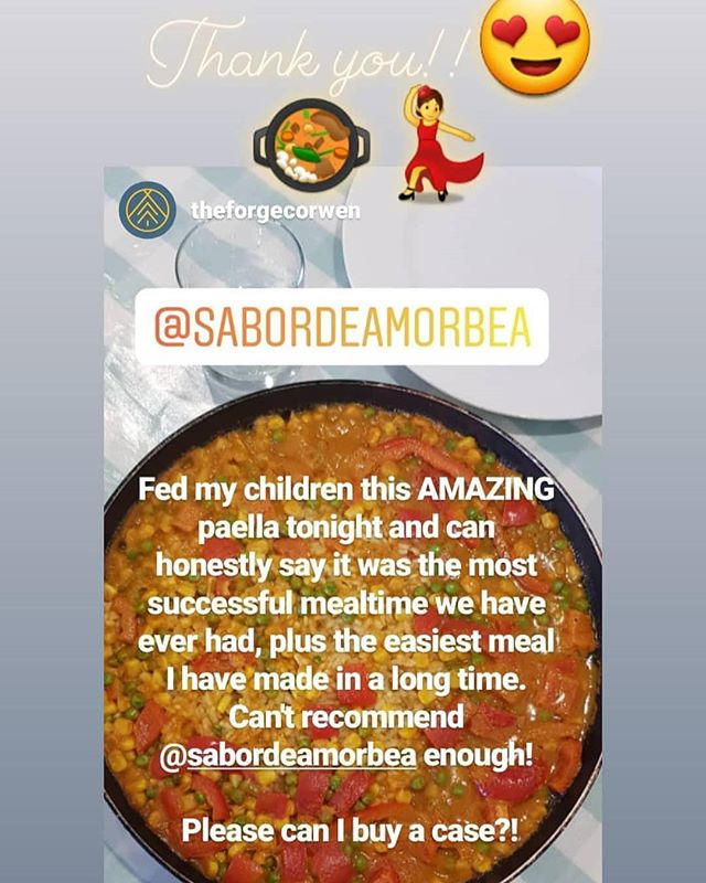 What a lovely feedback!! Great that you enjoy our #paellasauce 😍🥘💃