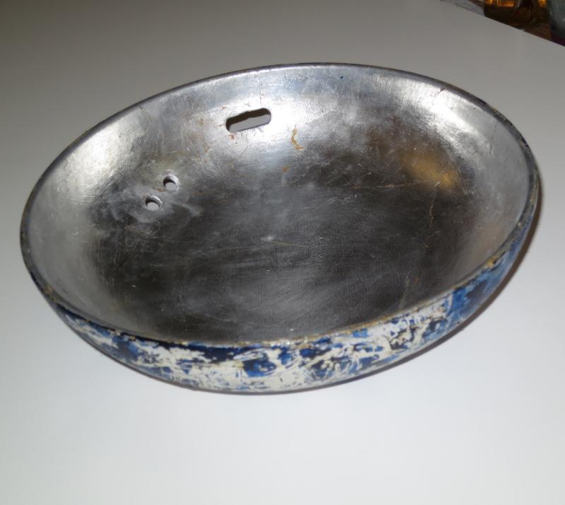 """Silver leaf, acrylic on 11"""" porcelain bowl, Barbara Frank"""