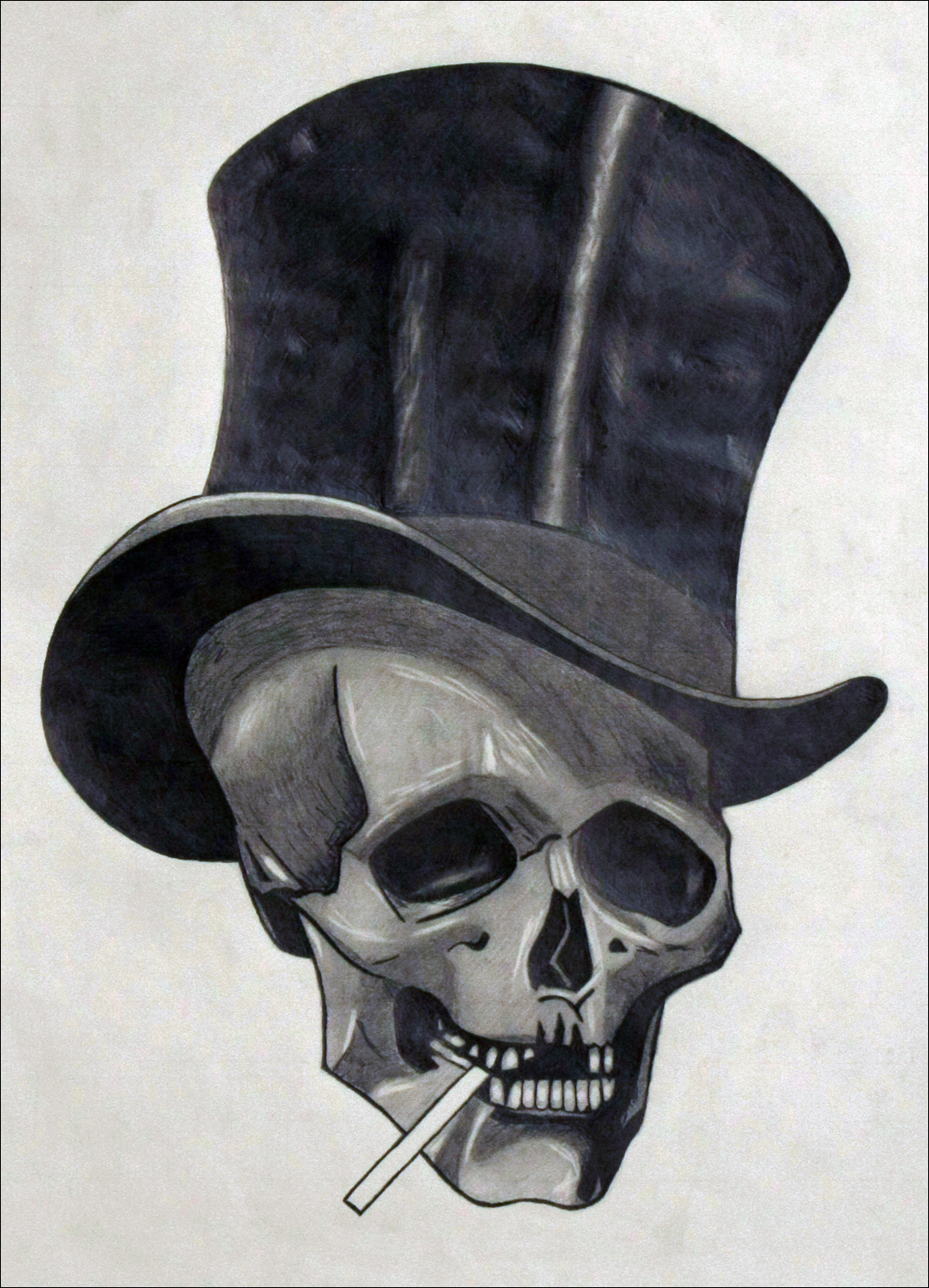Skull with Cigarette (2010)