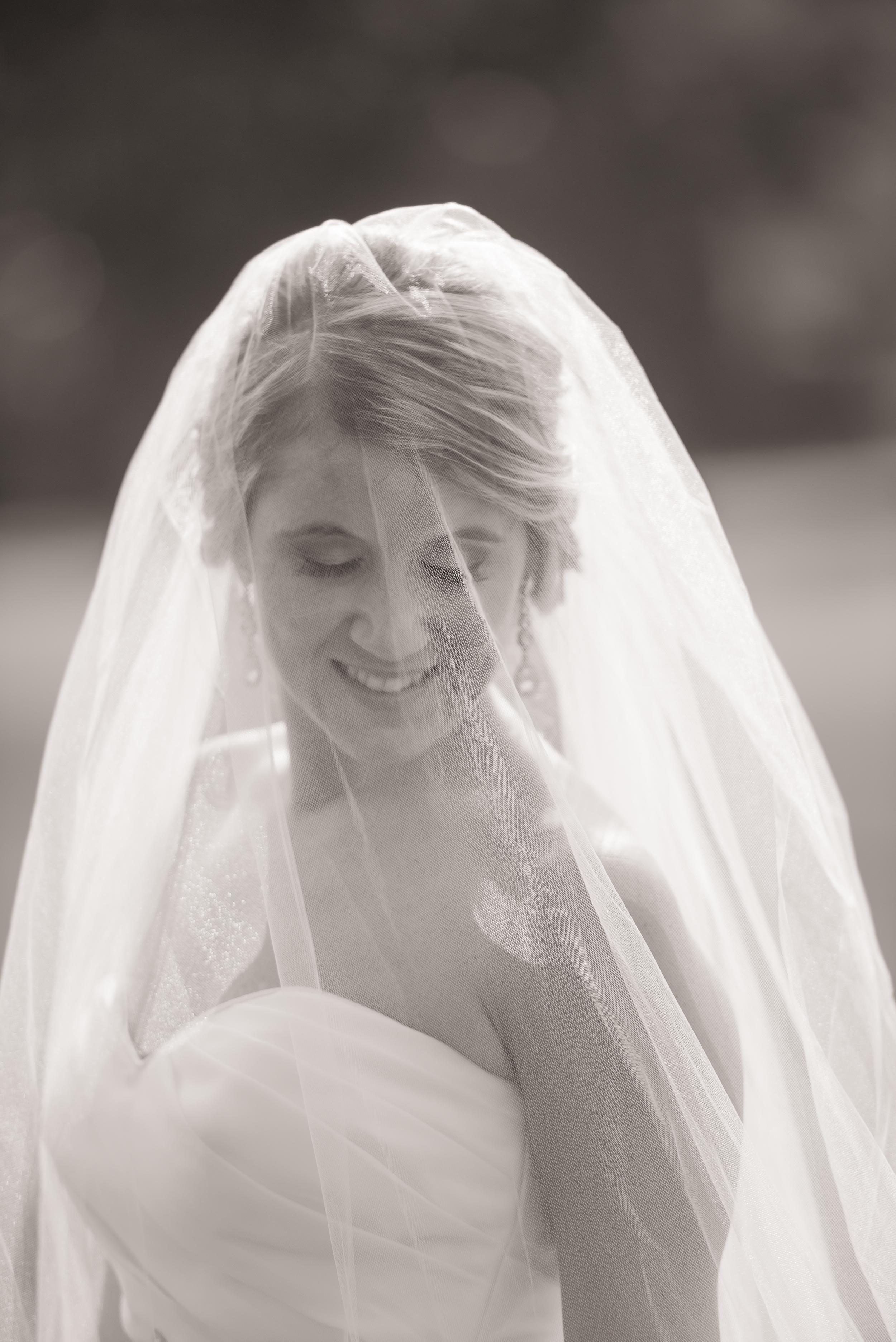 Long Veil - Easton Wedding Photographer