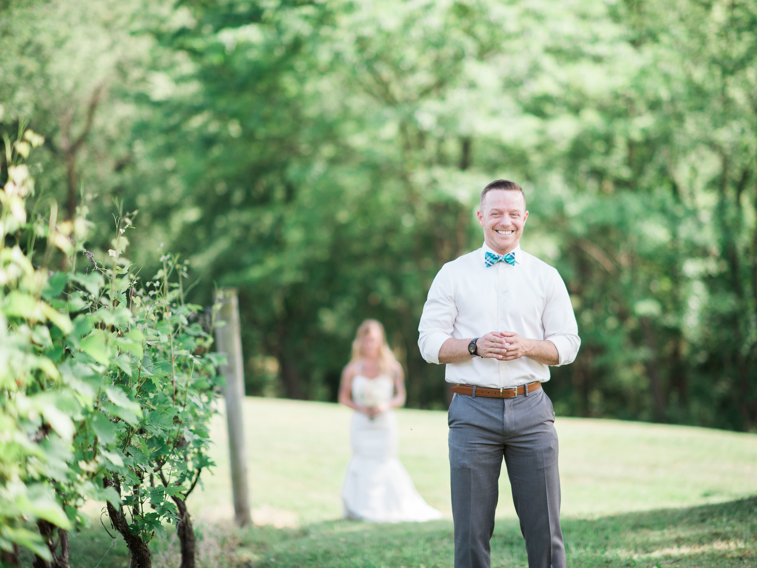 first look wedding picture