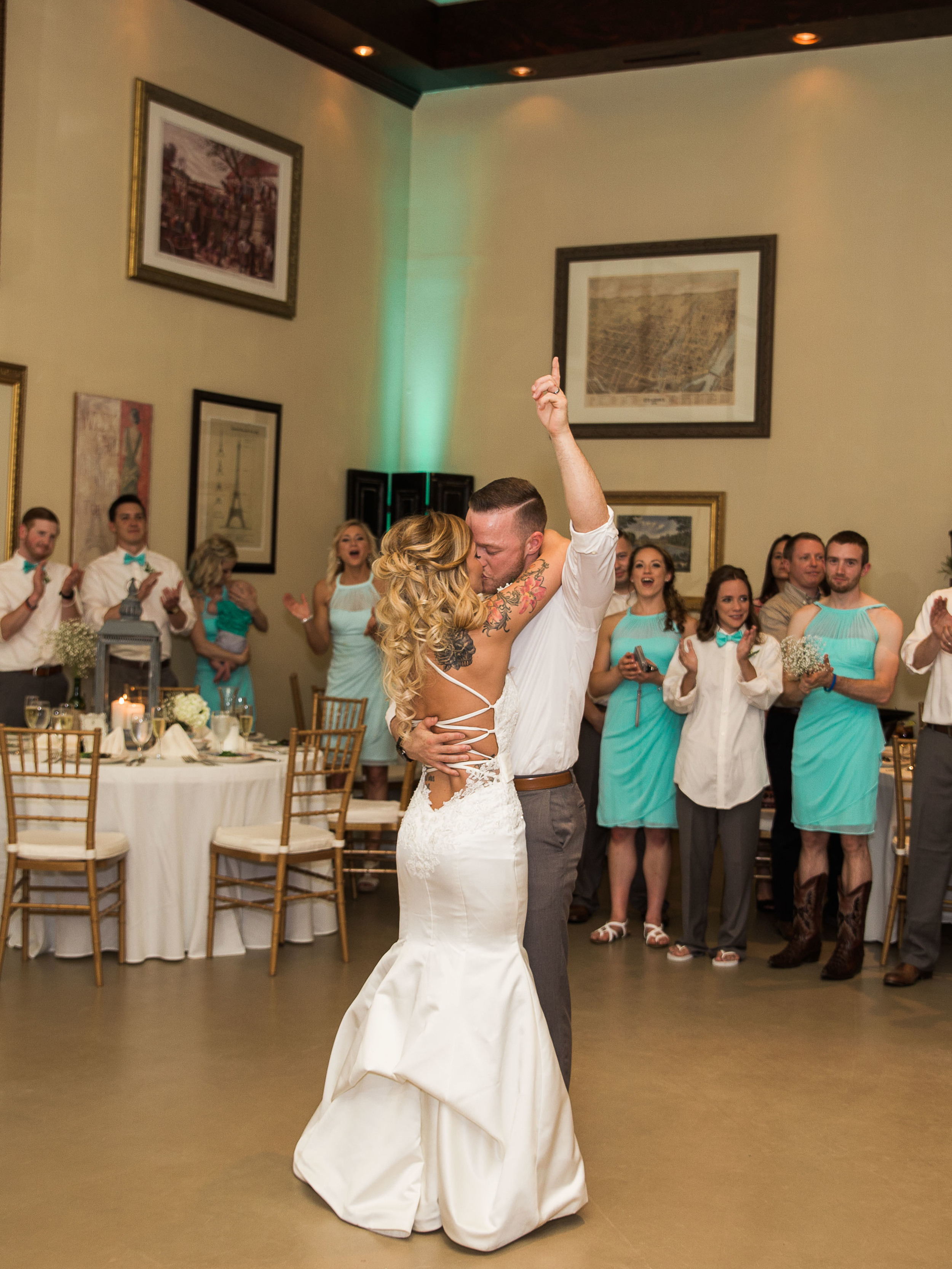 first dance at monterre vineyards