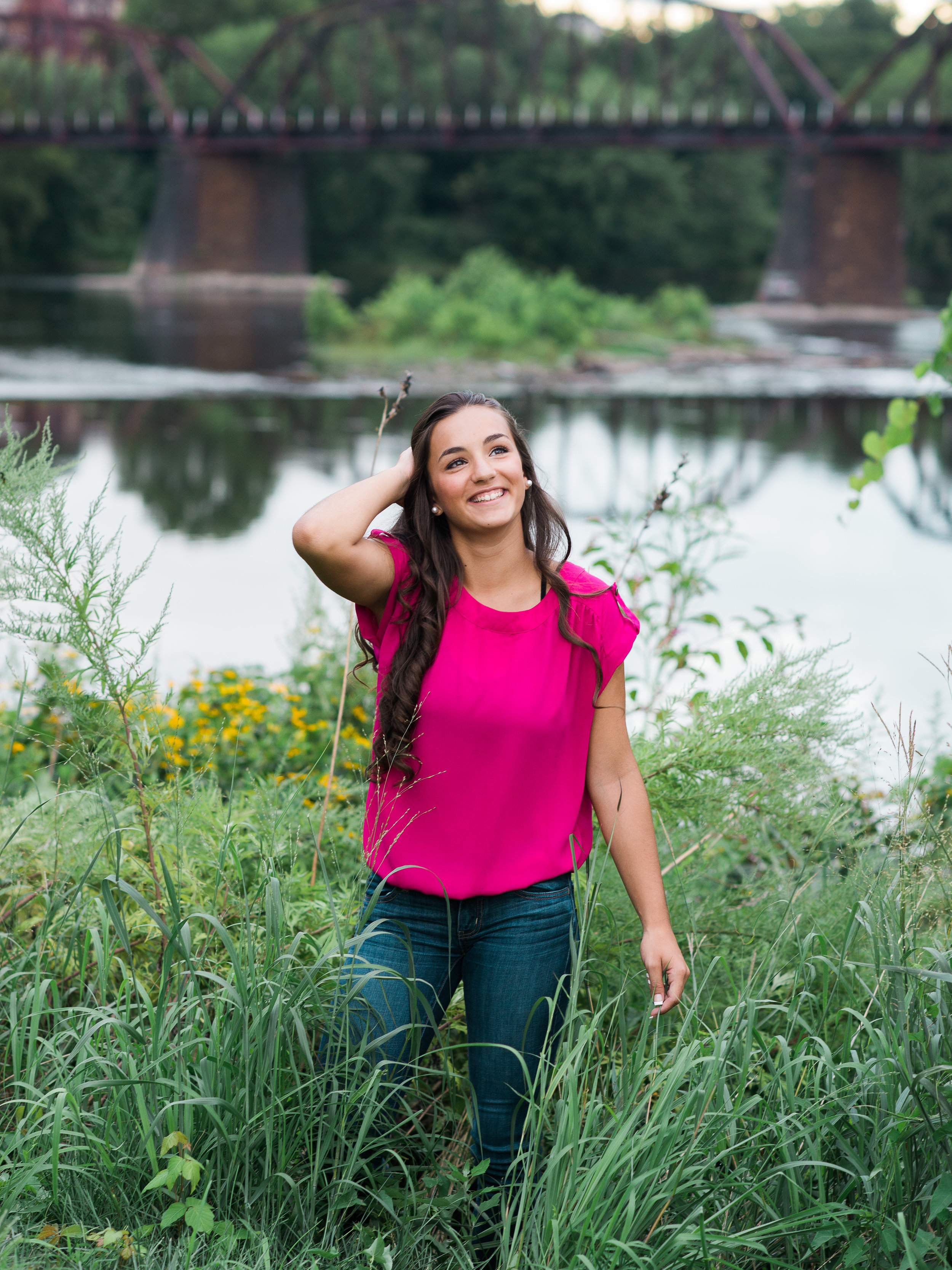 Senior Pictures in Downtown Easton