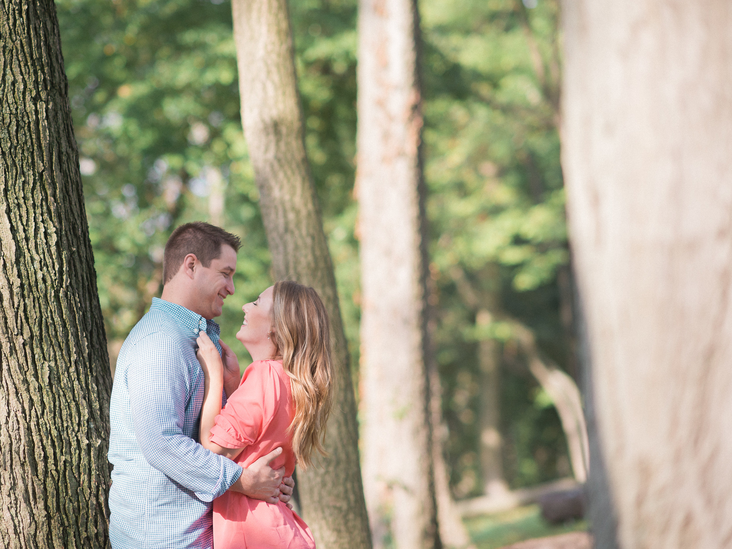engagement session at reading museum