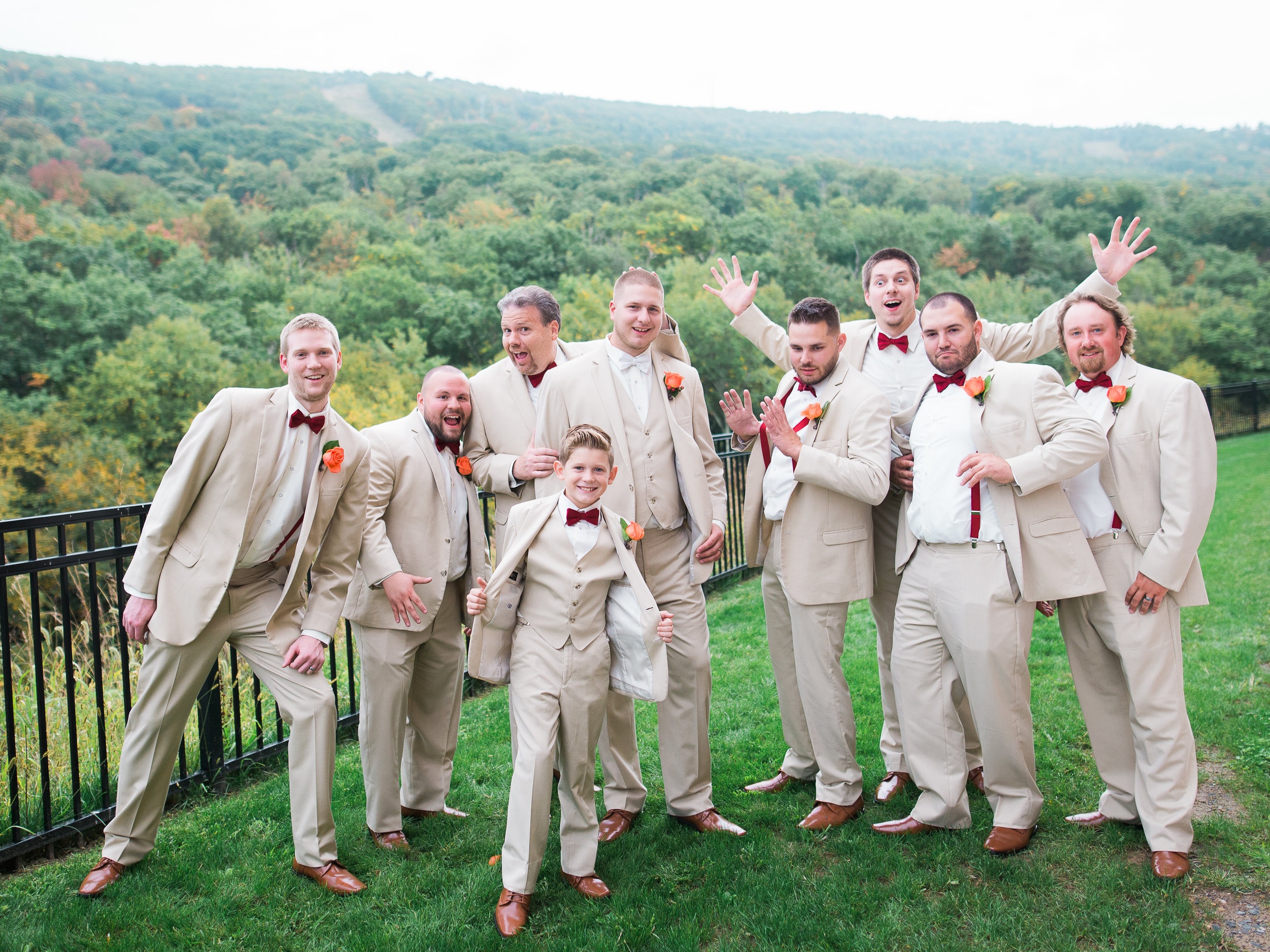 Wedding day at camelback mountain ski resort