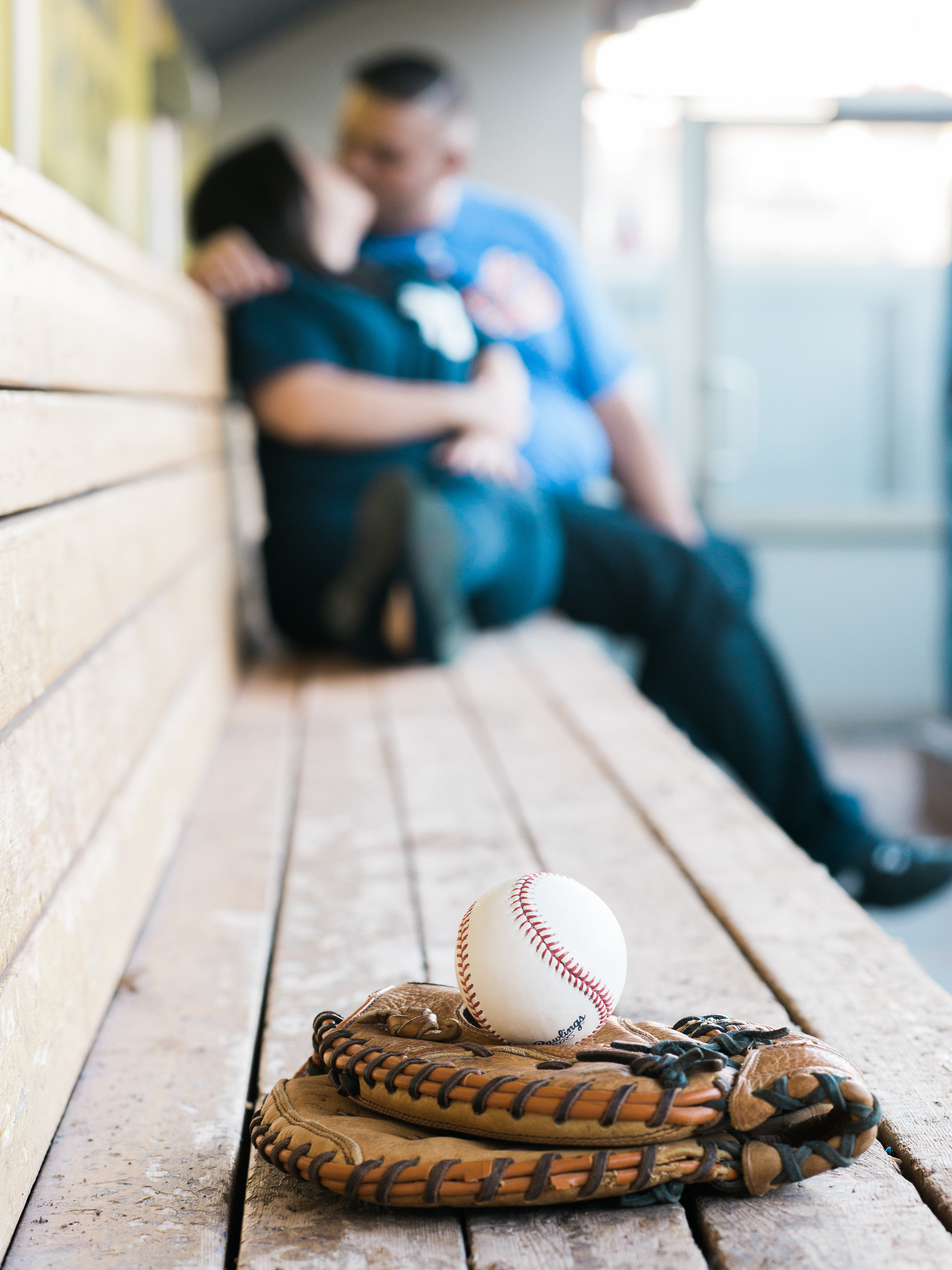 baseball engagement pictures