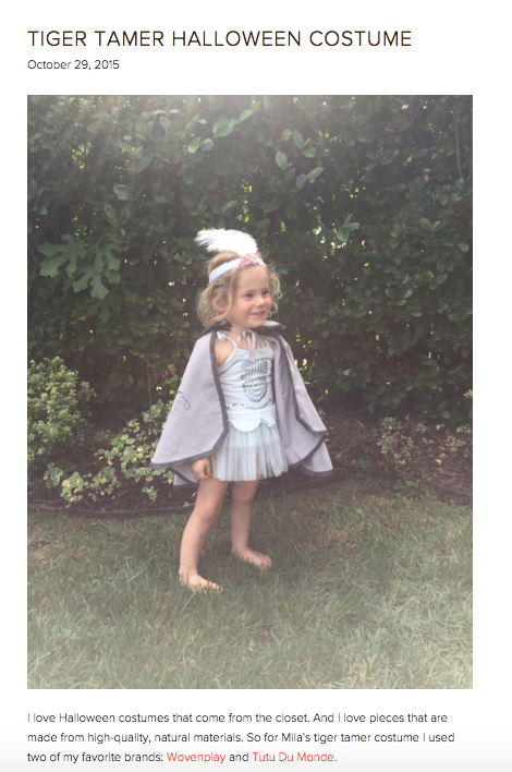 Love this beautiful blog Twink + Sis by sisters Lauren LaRocca and Marlan Willardson.    Here is a link to their recent post featuring our Tiger Cape!