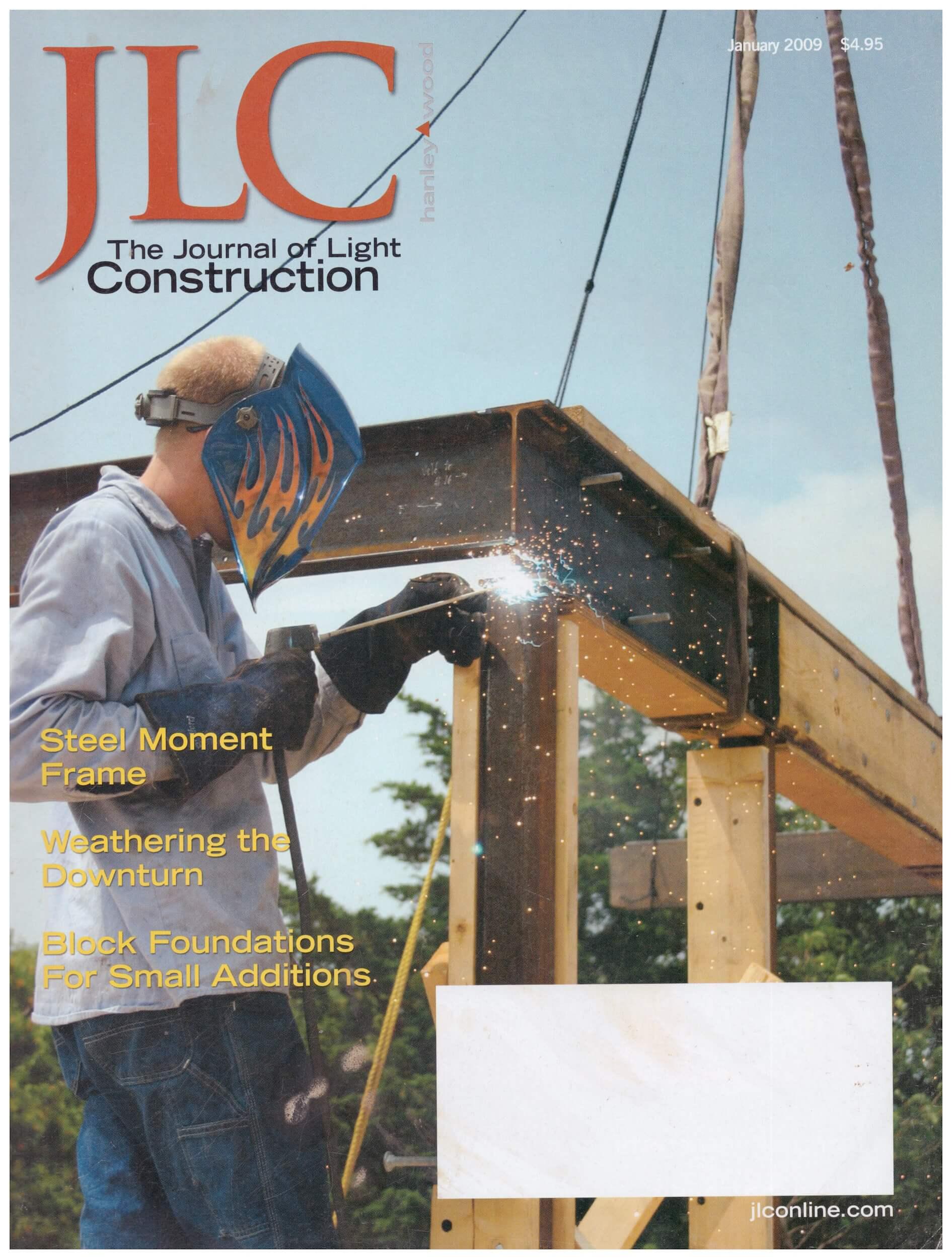 Journal of Light Construction - Using steel for a wind-resisting frame on a contemporary house. Metal fabrication and crane service by  Wellfleet Steel Works .