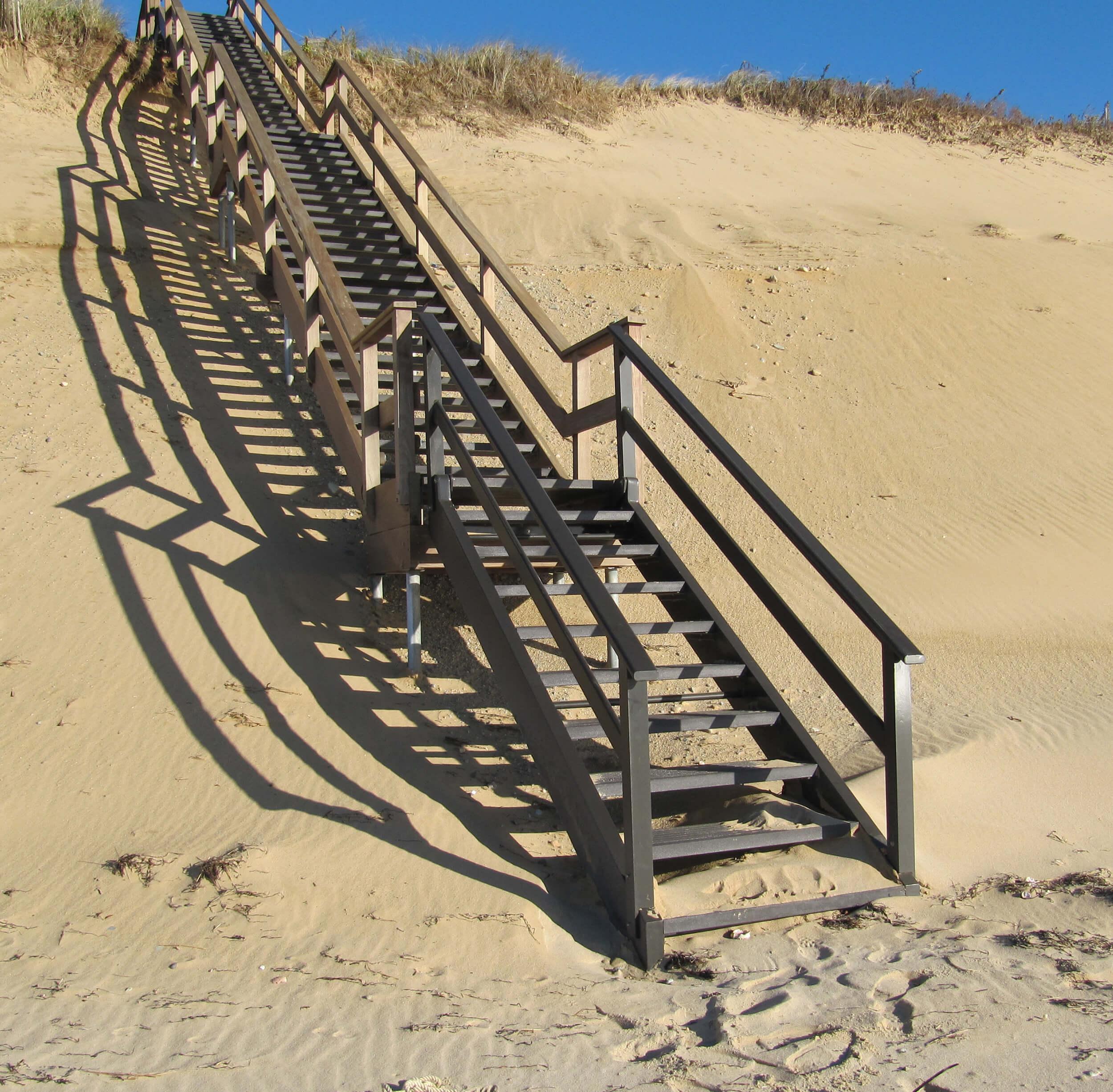 Hinged Beach Staircase