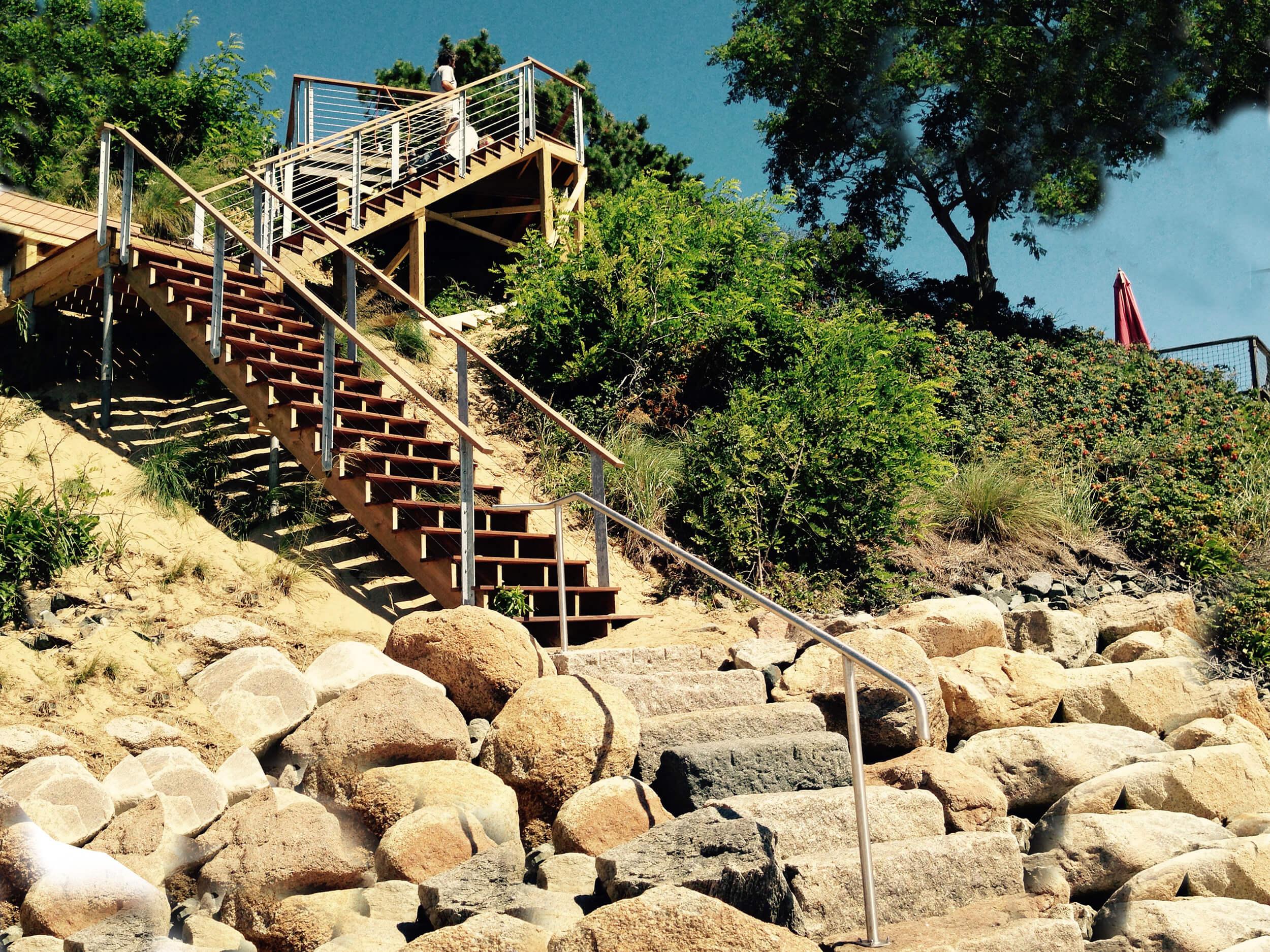 Beach Stair Railing