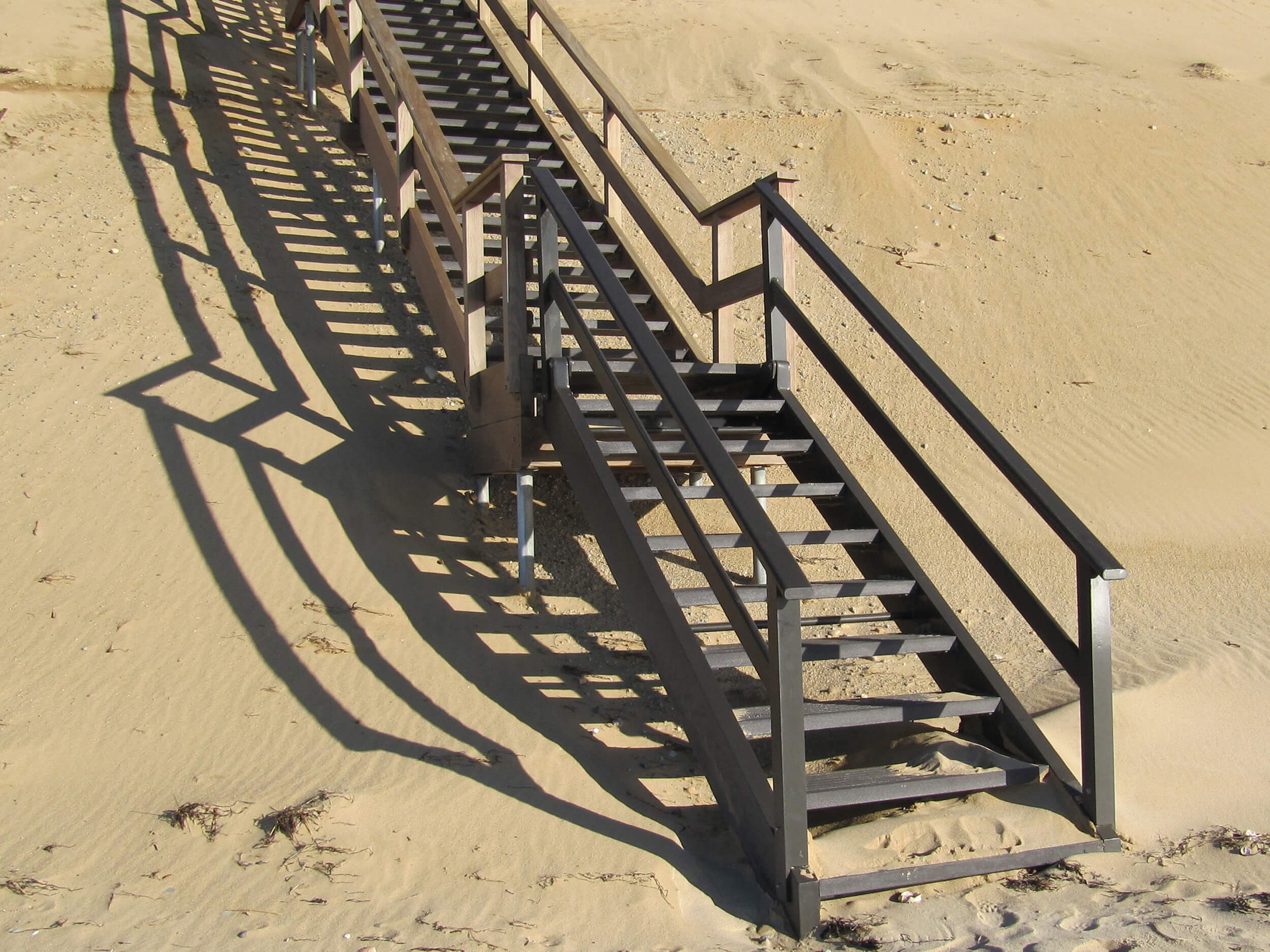 Aluminum Hinged Beach Stair