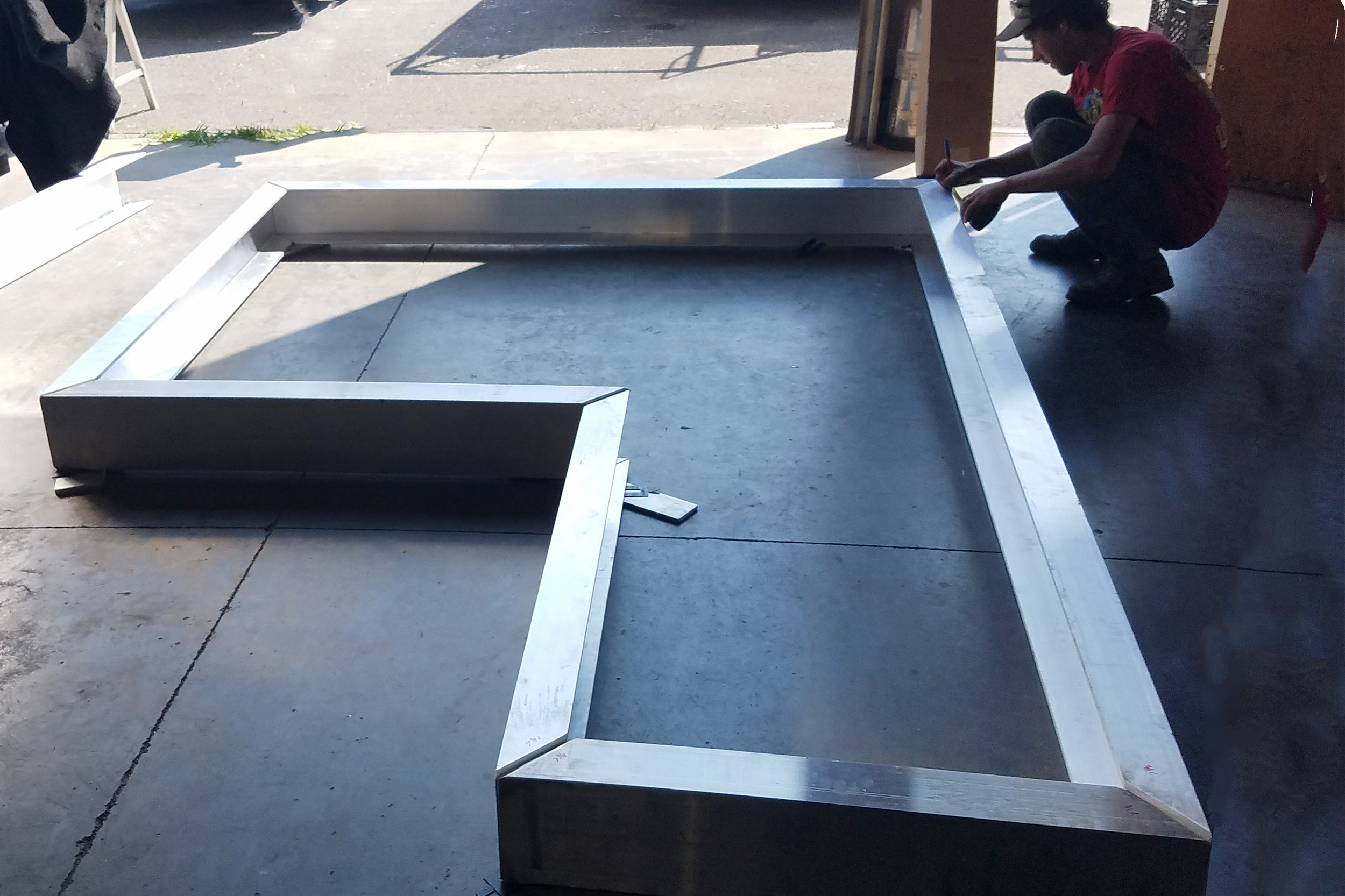 Aluminum Deck Landing