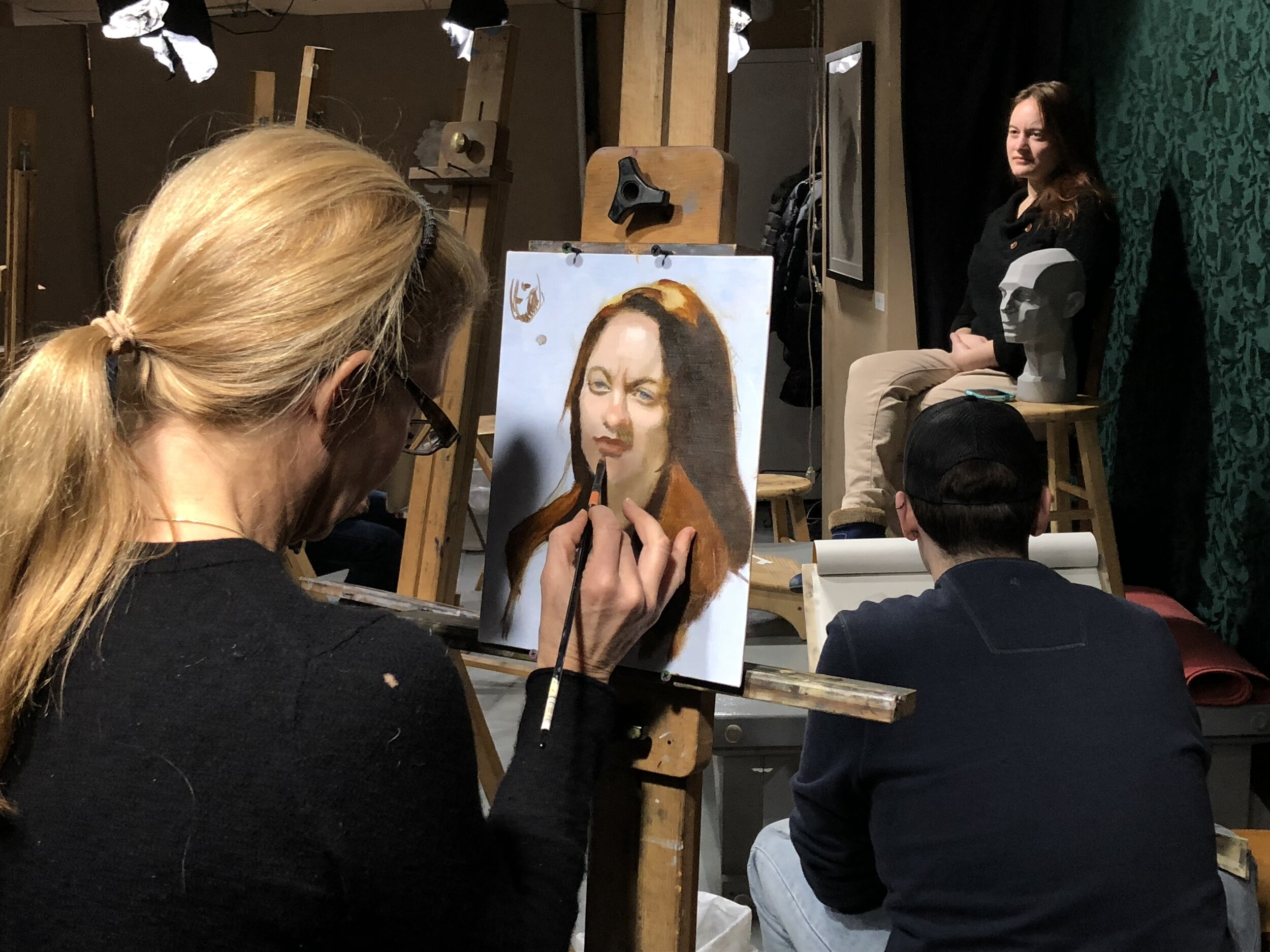 After Foundations, working from the live model is a crucial skill that figurative artists need to master.