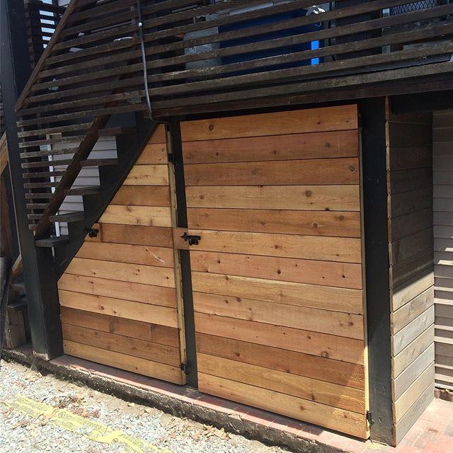 New lockable doors for storage under deck. #drystorage #safestorage #cleanlook