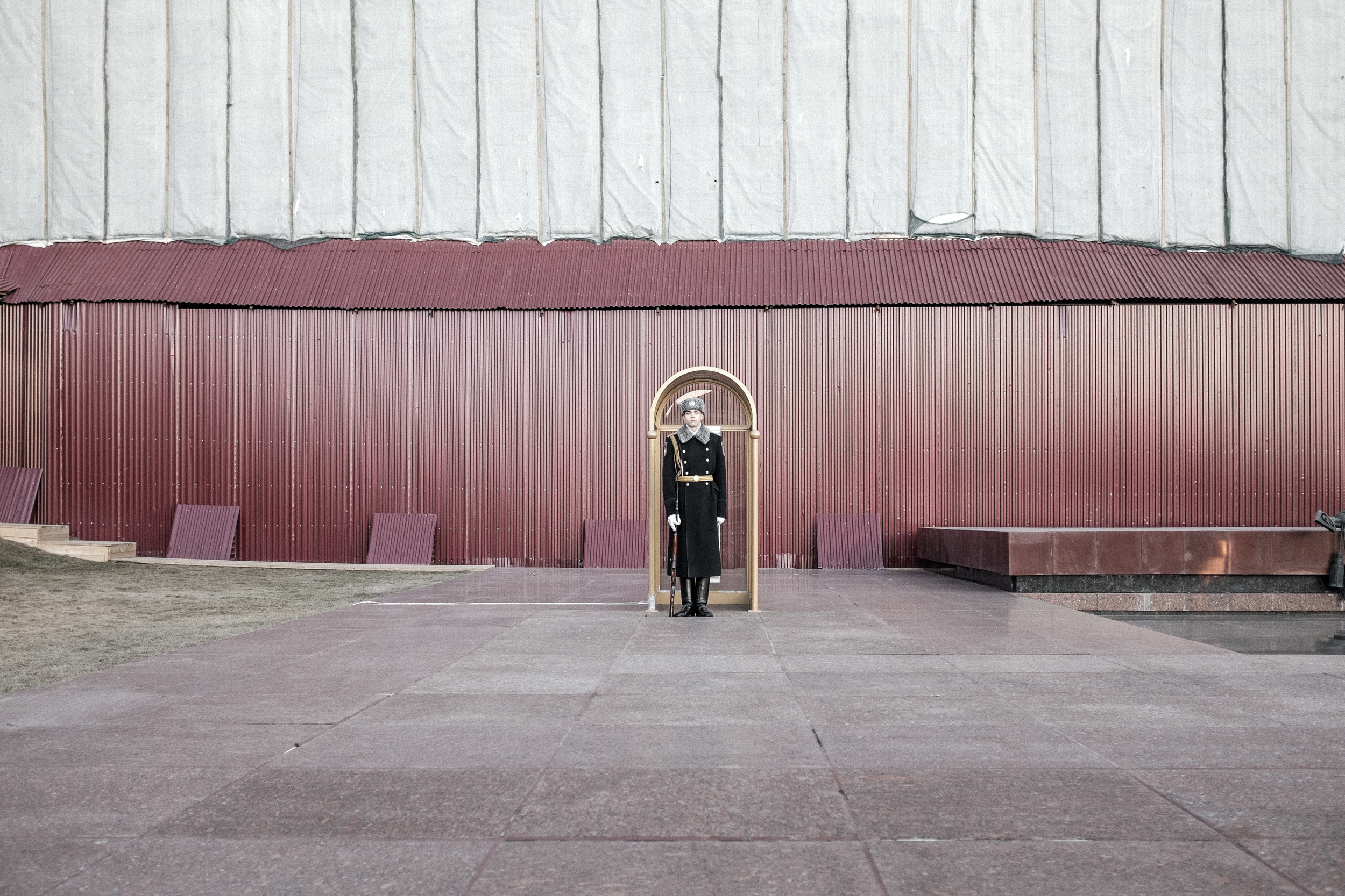Honor guard, Red square, Moscow, 2015