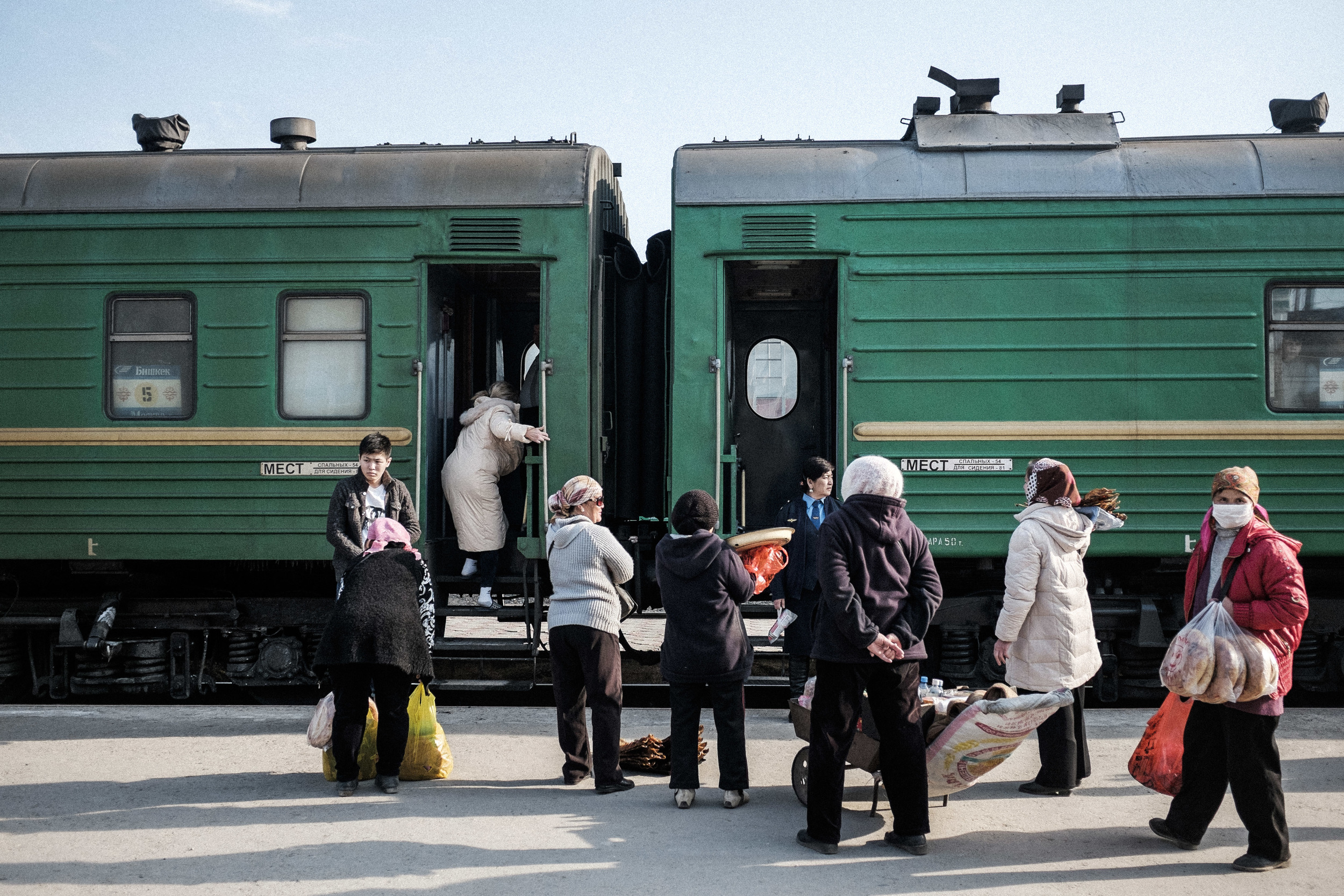 Train station. Shieli, Kazakhstan, 2015
